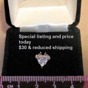 Sterling Silver Cubic Zerconia Pendent